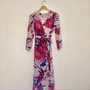 IRIS Wrap Maxi Floral Dress MEDIUM